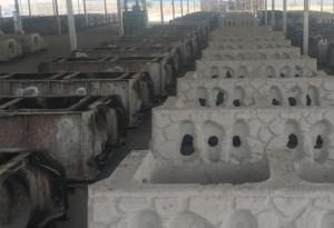 驻马店钢模板预制块布料机生产线