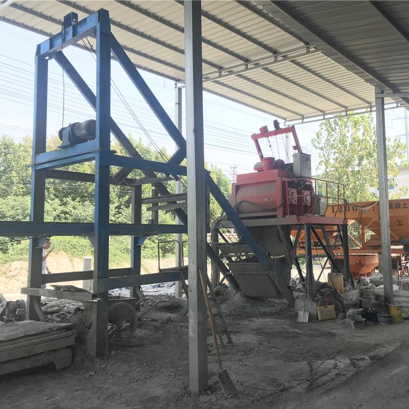 混凝土预制件生产线现场施工