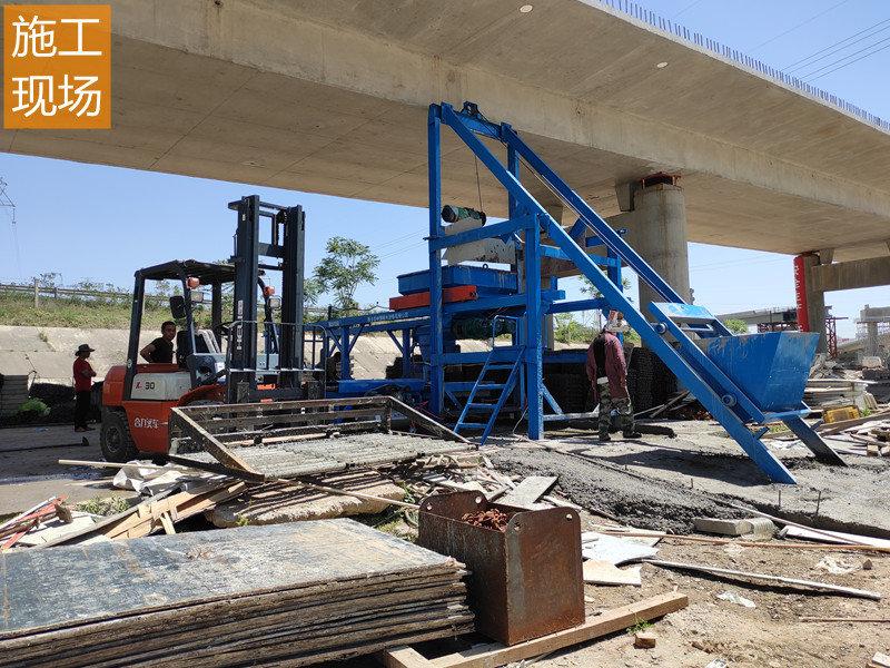 路沿石预制件生产设备施工现场