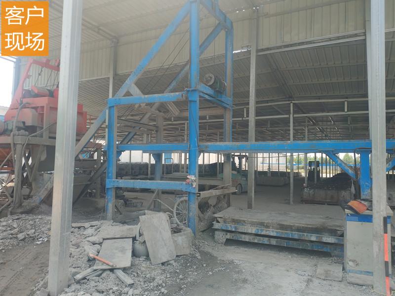 水沟盖板预制件生产线客户现场