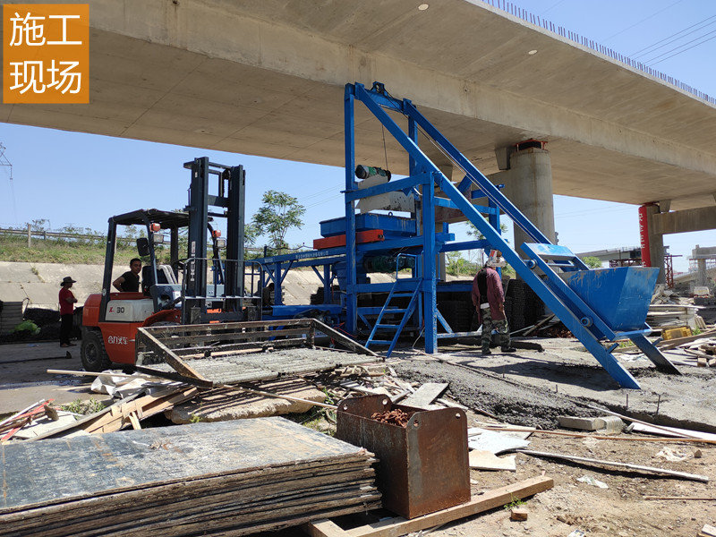 预制混凝土设备施工现场