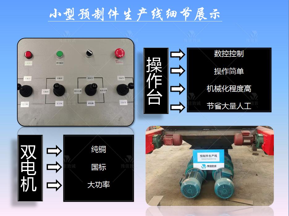 小型预制件生产设备细节展示